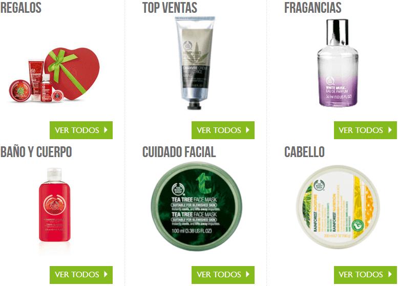 Esta tienda ofrece diferentes cosmeticos naturales cuales puedes comprar con codigos promocionales The Body Shop