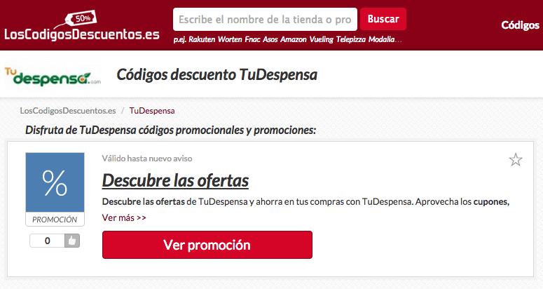 CUPONES DE DESCUENTO TU DESPENSA COM