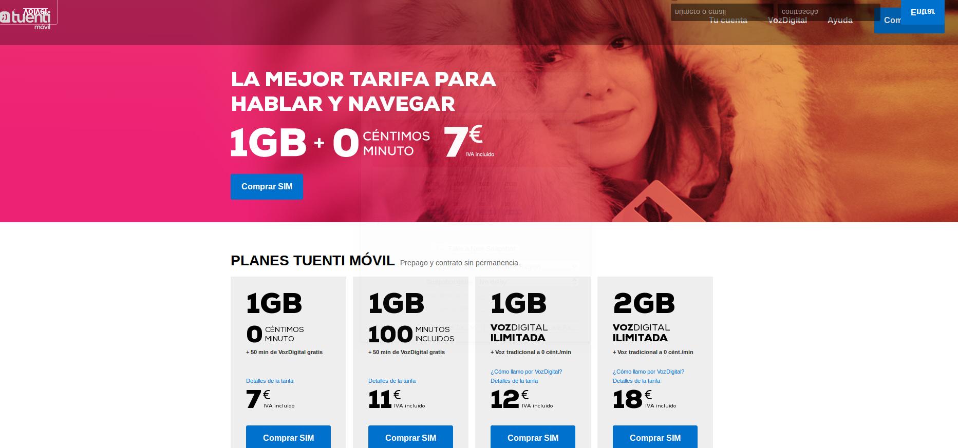 Visita la página web de Tuentti Móvil y compra tu sim ya