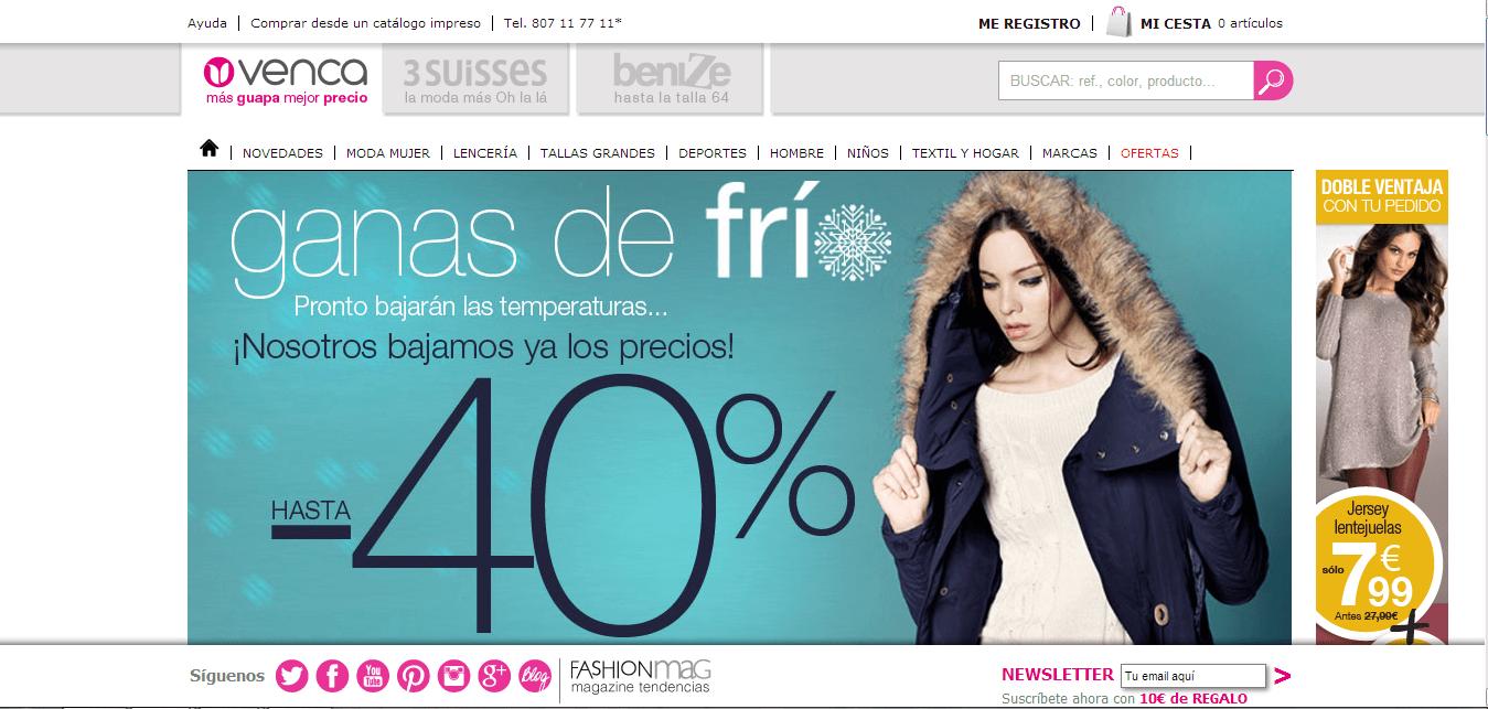 En Venca puedes encontrar cada tipo de ropa y ahorrar gracias a codigos promocionales Venca