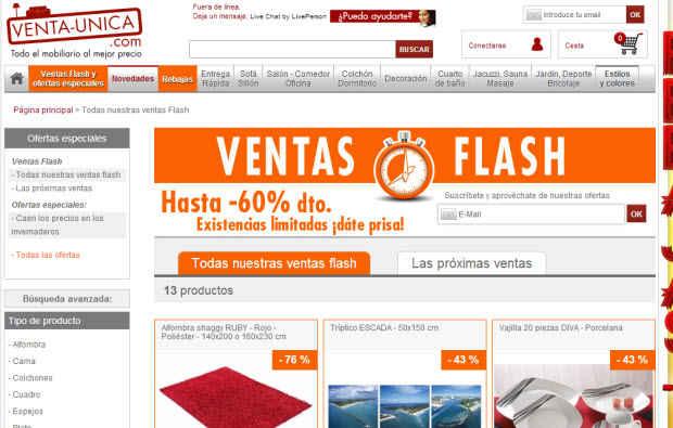 Ventas Flash en Venta-Unica