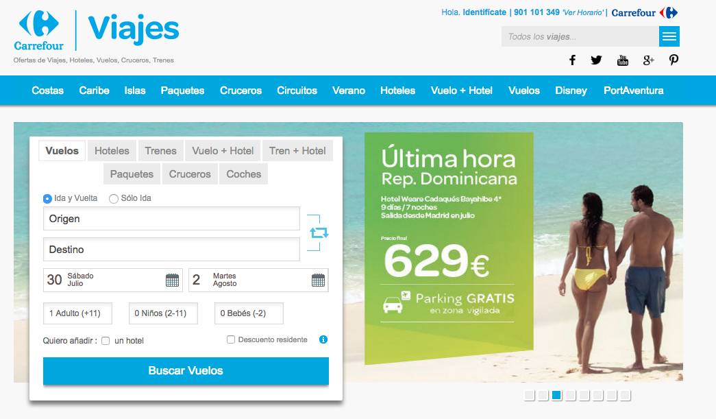 viajes carrefour homepage