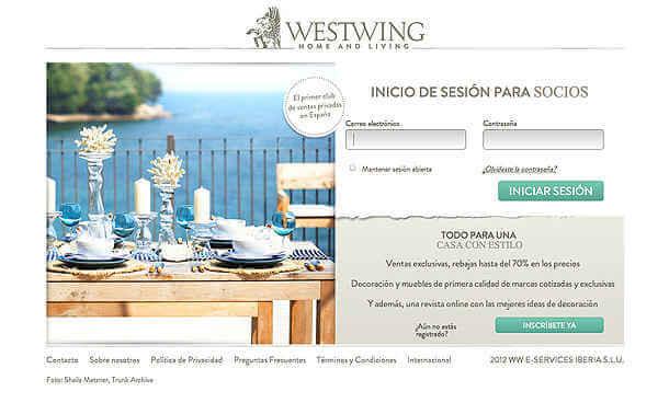 Hazte socio de Westwing