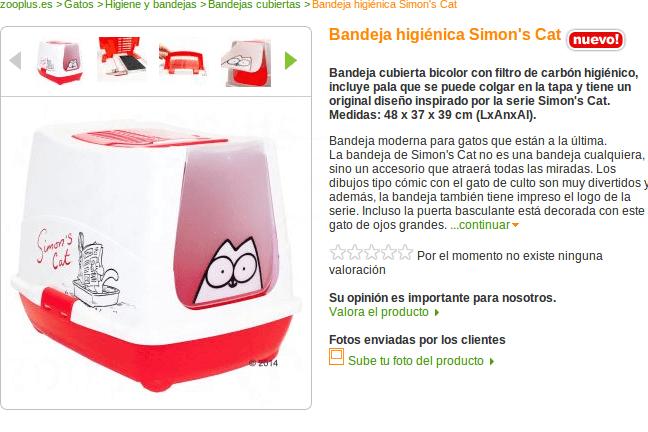 Productos Simon's Cat Zooplus - aprovecha los descuentos