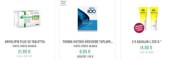 Apteekkituotteet.fi tuotteet