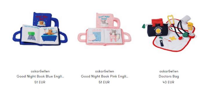 Tuotteita vauvoille