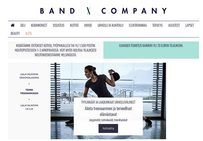 band company etusivu tarjoukset alennuskoodi