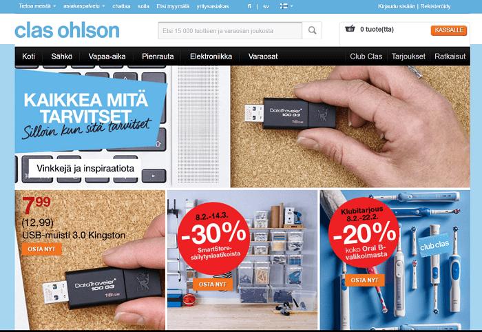 Clas Ohlson verkkokauppa