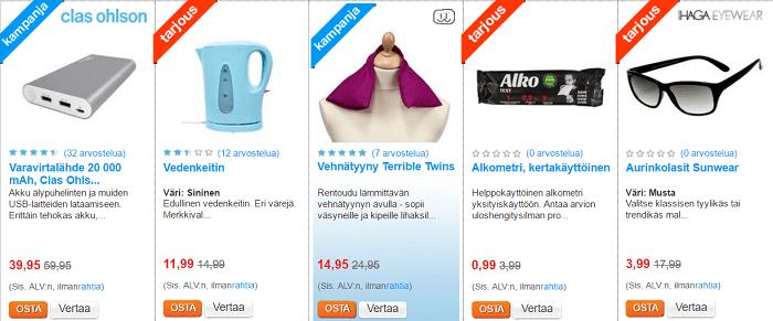 Clas Ohlsonilta tuotteita alennetuin hinnoin