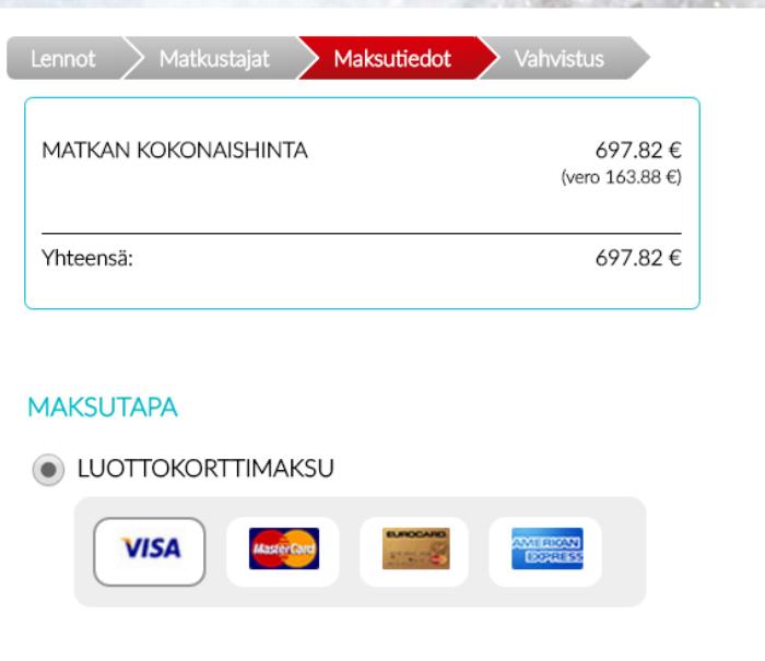 Maksaminen CTW Kaleva Travel