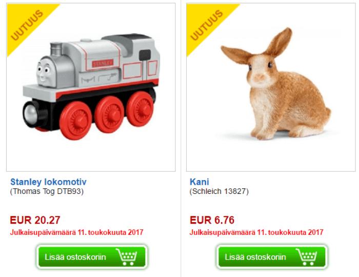 Leluja aina edulliseen hintaan