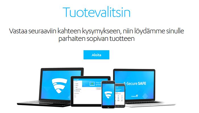 f-secure tuotevalitsin tarjous alennuskoodi