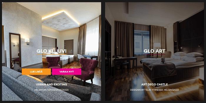 Tutustu huoneisiin ja varaa oma hotelliyösi!