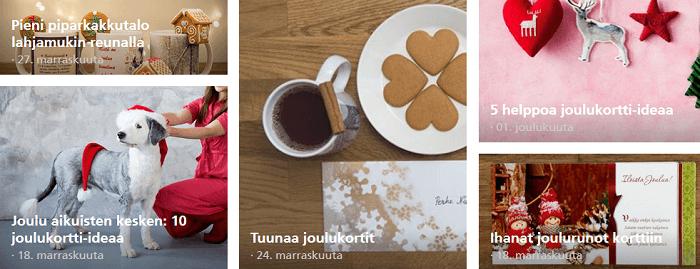 Hurmaavia ideoita jouluun