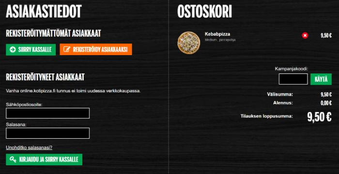 Kotipizza Kampanjakoodi