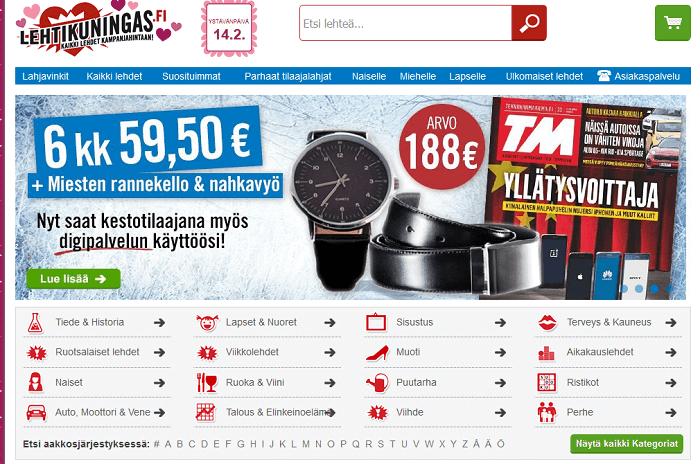 lehtikuningas.fi etusivu tarjoukset alennuskoodi