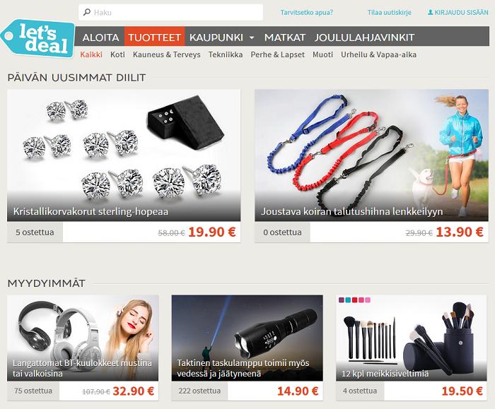 lets deal verkkosivut alennuskoodit ja tarjoukset