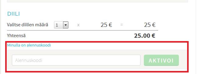 lets deal alennuskoodin käyttäminen