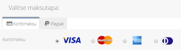 Match.com maksutapojen valinta