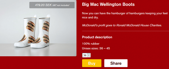 Fanikaupasta tuotteita Bic Mac -kuosilla