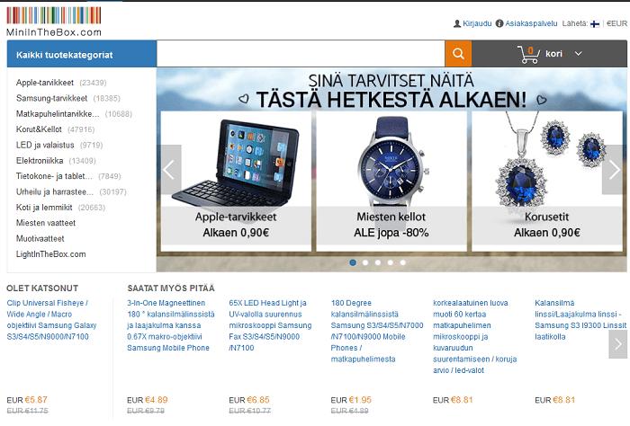 miniinthebox etusivu tarjoukset etukoodi