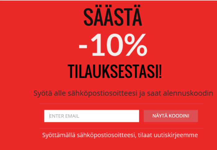 Säästä -10%