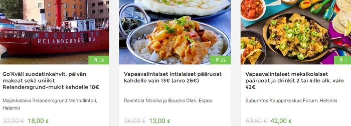 Ruokaa jopa puoleen hintaan