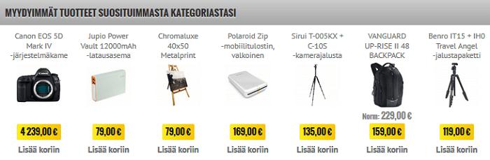 Myydyimpiä tuotteita