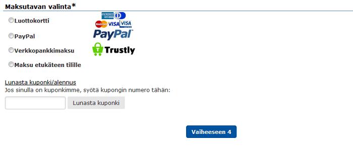 rengasonline.com alennuskoodin käyttäminen