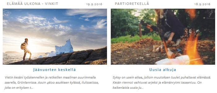 Blogitekstejä ja upeita luontokuvia