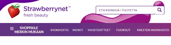 Strawberrynet.com etusivu