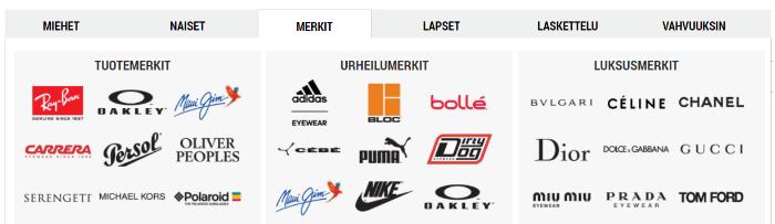 Paljon tuotemerkkejä