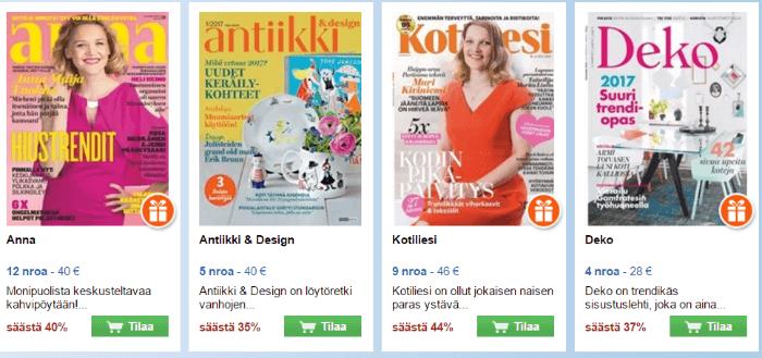 Lehtiä tarjoushinnoin Suomenlehtiapajasta