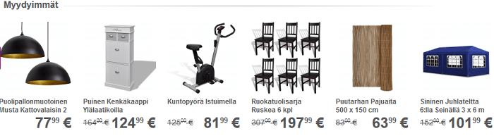Ostetuimmat tuotteet eri kategorioista