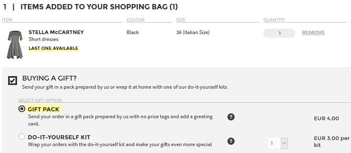 Lähetä tuote valmiina lahjana tai paketoi lahja itse