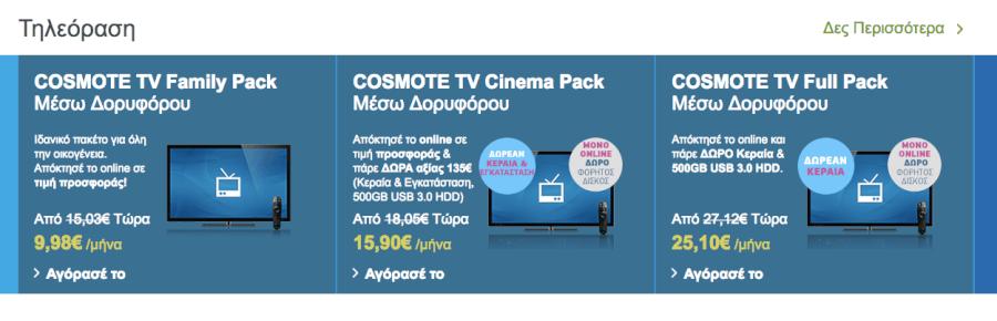 Προγράμματα για τηλεόραση στις πιο οικονομικές τιμές!