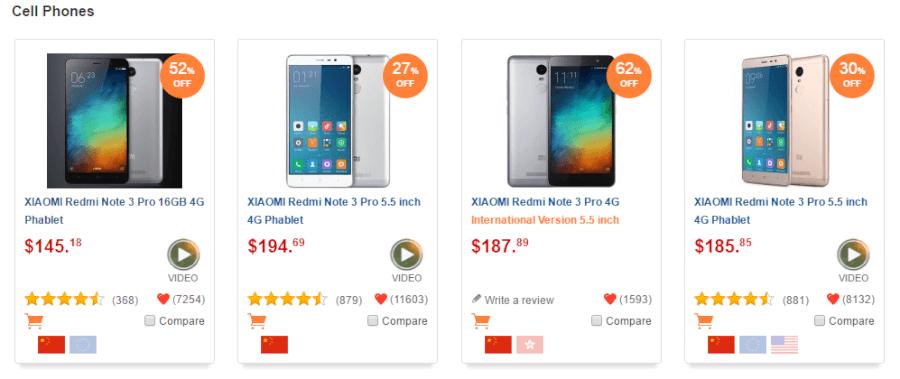 Τα καλύτερα κινητά τηλέφωνα σε μοναδικές τιμές βρίσκονται στο gearbest.com!