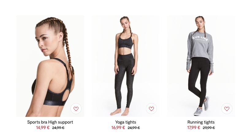 Το hm.com προσφέρει τεράστια ποικιλία από αθλητικά ρούχα.