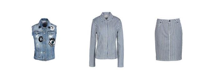 Denim clothing at Yoox