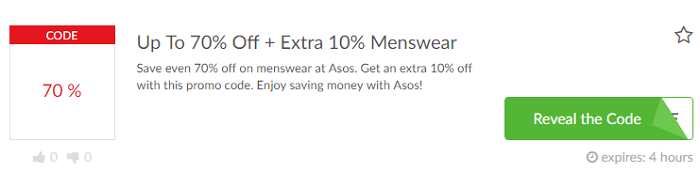 Special promotions at Asos