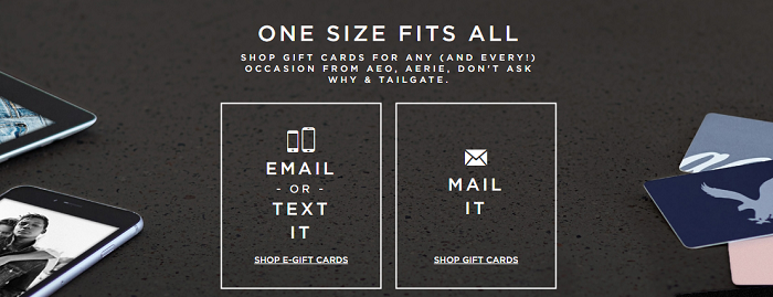 AE giftcards
