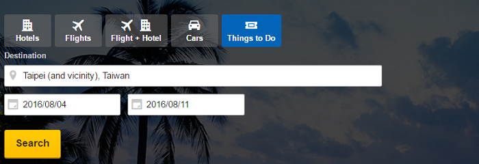You can even search for things to do at Expedia!