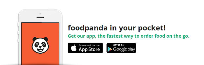 Order on the go with Foodpanda app