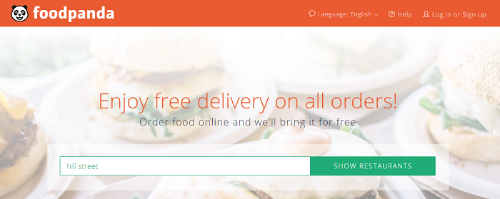 Foodpanda delicious food delivery