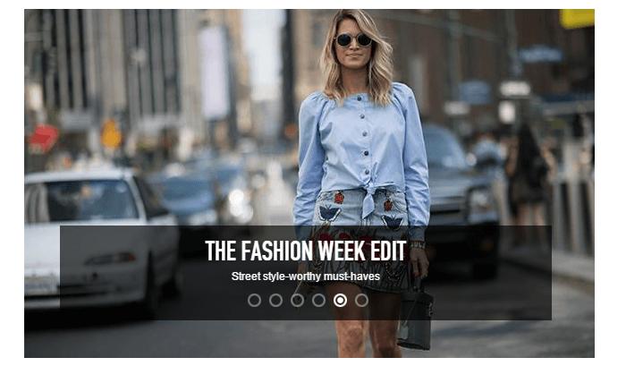 Fashion week at Harrods