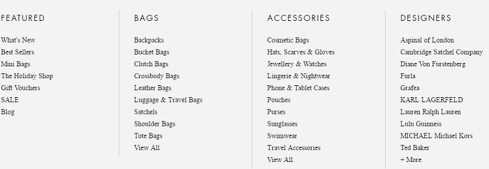 Wide selection of products at MyBag