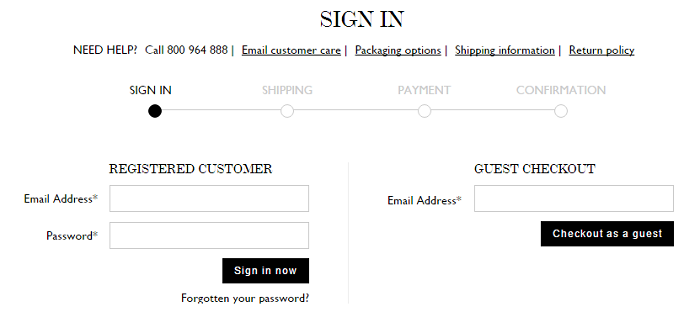 Sign up at Net-A-Porter