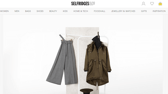 Selfridges website