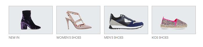 Wide range of shoes at Selfridges