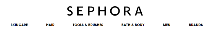 Sephora categories